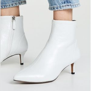 NIB Rebecca Minkoff White Ankle Booties Boots 37 7
